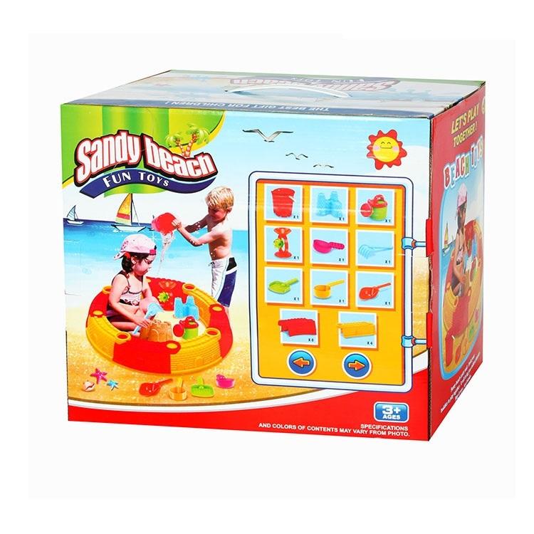 Hualian Toys Песочница сборная круглая, в комплекте набор для песка из 6 предметов, D76*H14 10702  купить за  в Москве