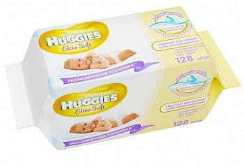 Huggies Ultra Elite Soft Натуральные влажные салфетки для чувствительной кожи, 128шт